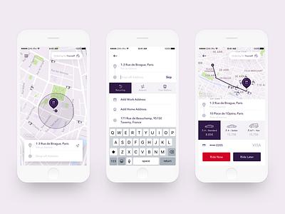 Ride App fare uber red purple taxi app ride