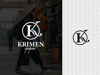 Streetwear Brand Logo - Krimen Streetwear sneakers brand logo initial monogram logo maker apparel urbanstyle outfit streetwear store street fashion streetstyle clothing fashion streetwear clothing brand new logo design logotype branding logo