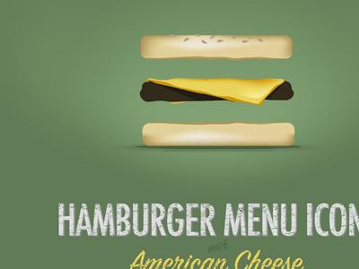 Hamburger Menu Icon w/cheese hamburger icon springboard icon poster food