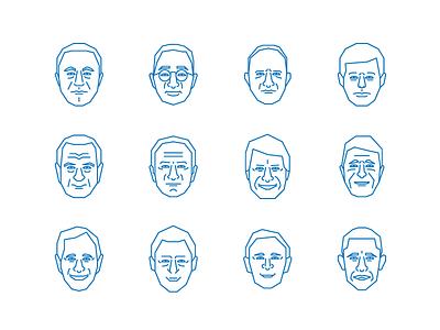 President Faces president illustration roosevelt truman eisenhower kennedy johnson ford reagan clinton obama