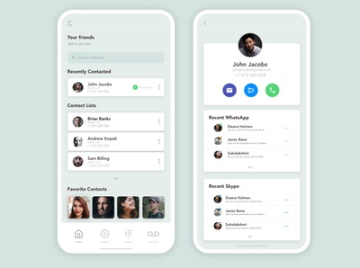 Contact list - social conversation integration