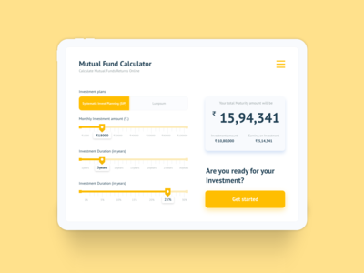 Mutual Fund - Calculator
