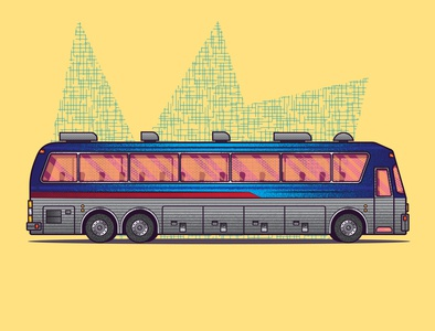 Eagle Bus Illustration