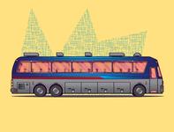 Eagle Bus Illustration