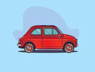 Fiat 500 Illustration
