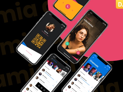 Amia - Messaging App UI Kit contacts ui ui kit mobile app mobile design 4.0 ios mobile ui kit communication contact chat