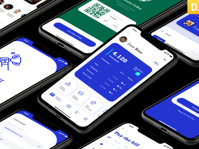 Dior - Wallet app UI Kit mobile ui kit fintech cryptocurrency banking bank finance wallet