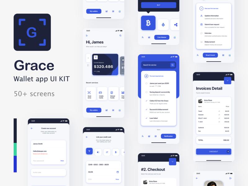 Grace Bank  - Bank app UI Kit