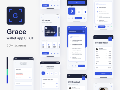 Grace Bank  - Bank app UI Kit model banking business app paymnet bank app design contact technology ui 4.0 mobile ui kit fintech finance ui kit mobile design