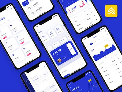 Dior Wallet -  Finance mobile app UI kit banking wallet design ui kit mobile ui kit ui mobile app fintech finance mobile design