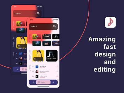 Elexto - Music App UI Kic music app design sound ui kit life style music app music