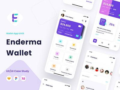 Enderma - Wallet app UI Kit ui