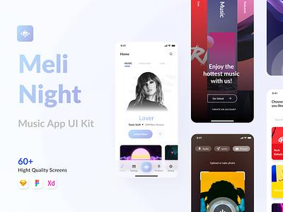 Meli Night - Music App UI Kit ui