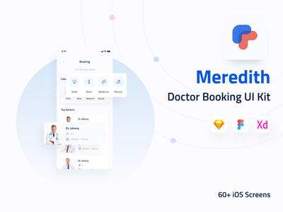 Meredith - Doctor Booking UI Kit ui