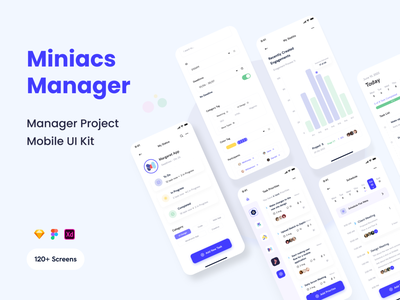 Miniacs - Manager Business App UI Kit ui