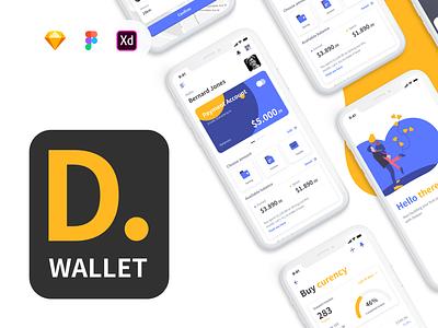 Deeper Wallet - Light Kit finances finance ui mobile design fintech
