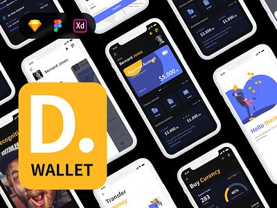 Deeper Wallet - Premium Kit mobile app ui mobile design fintech finance