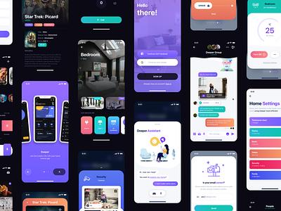 Sofia - Smart Home UI Kit mobile app iot technology interface 4.0 ai network ui kit smart home