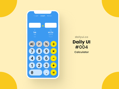 Calculator Daily UI #004 calculator ui uidesign ui mobile ui mobile ios interface hong kong figma design daily ui challenge dailyuichallenge daily ui dailyui concept calculator 2020 004