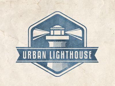 Urban lighthouse dribbble blue