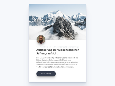 Stiftung Schweiz - Blog List Item article list author blog mountain swiss engine search