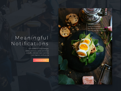 Agnoris Main Page Deatil ui dark data breakfast eggs