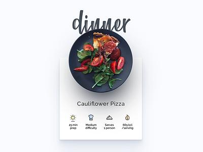 Headchef - Dinner recipe pizza diet food plate dinner