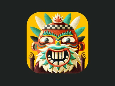 Voodoo Mambo Game Icon app logo game digital brush design digital art character design illustration 2d