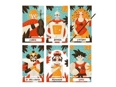 #sixfanarts mononoke bender chitara thundercats dragonball son goku cobra design 2d digital art character design illustration fanart