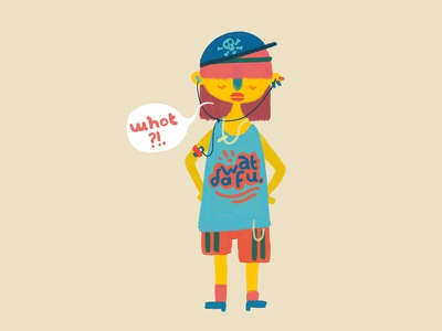 Whot? character design illustration