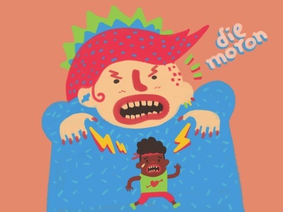 PMS character design illustration