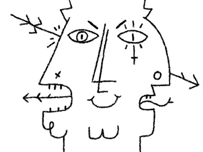Death of the Old Gods digital art black and white white black character design illustration