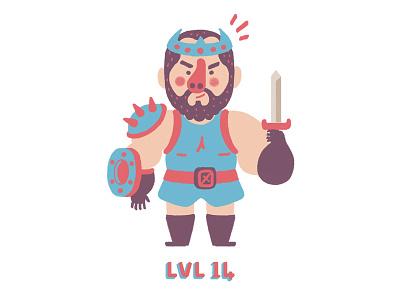 Warrior // Lvl 14 frp rpg warrior character design game art game