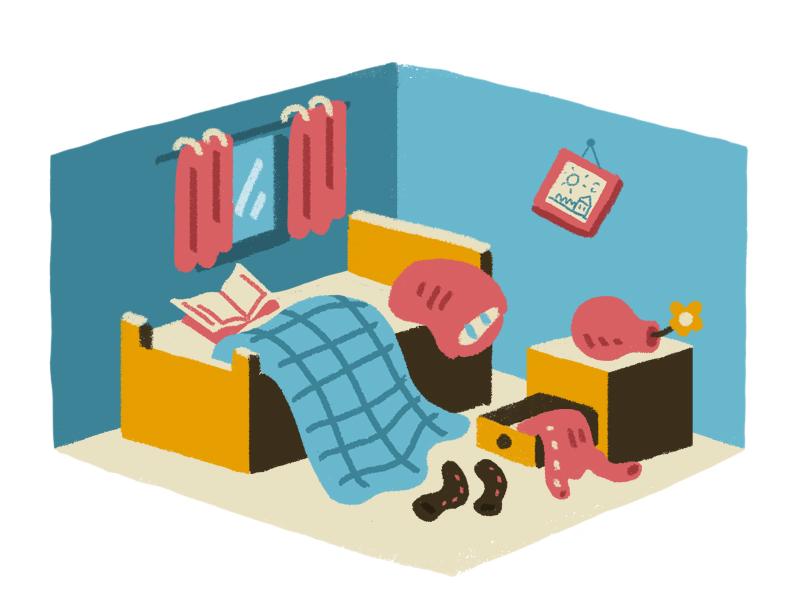 Clutter children book digital brush digital art character design illustration
