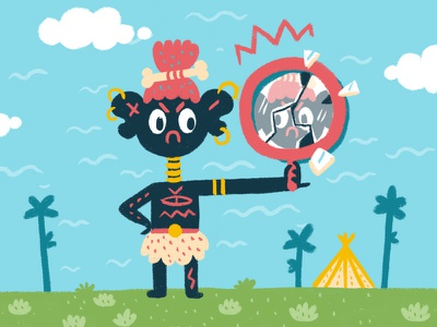 Bad Luck children art tribe design digital brush digital art character design illustration