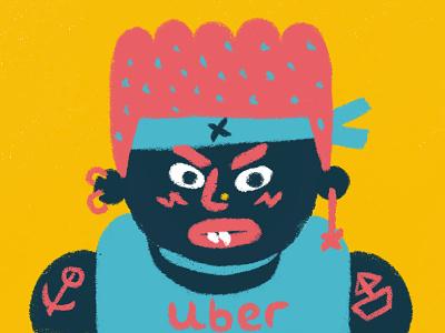 Uber children art design digital brush digital art character design illustration