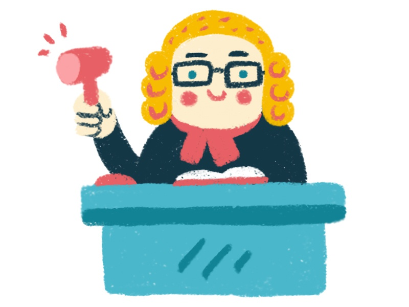 Judge children art digital brush digital art character design illustration