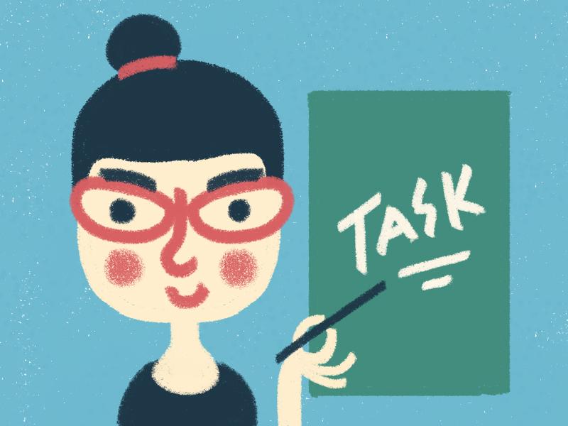 Teacher children art digital brush digital art character design illustration