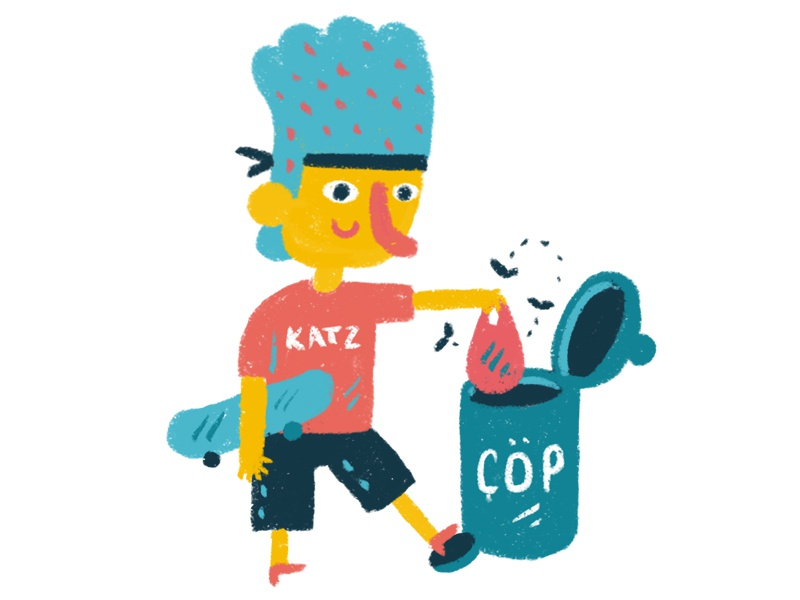 Trash children art design digital brush digital art character design illustration