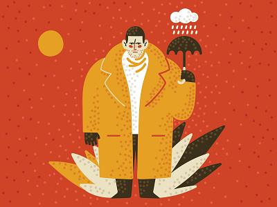Luther Hargreeves umbrella academy fan art illustrator character art vector 2d flat illustration