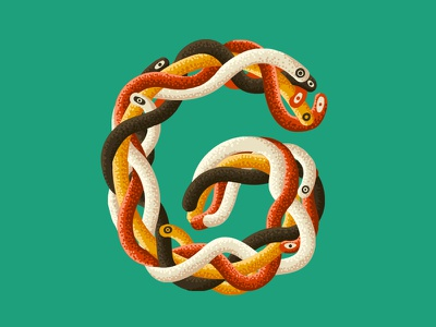 36 Days OF Type - G typogaphy typeface letter lettering illustration g snake creative 2d design 36daysoftype 36days-g 36days