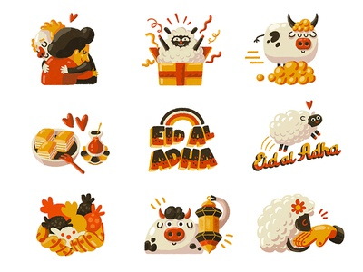 Snapchat Eid Al Adha Stickers snapchat mobile app icon ux typography ui digital brush animal design 2d digital art character design illustration