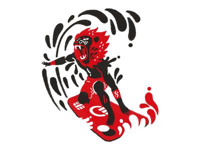 Curve Concept Illustrations animal digital brush black red web design 2d digital art character design illustration