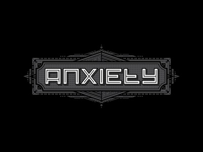 deprivedanxiety - logo update. refresh branding vector graphic website ident panel decorative detail ornate anxiety logo