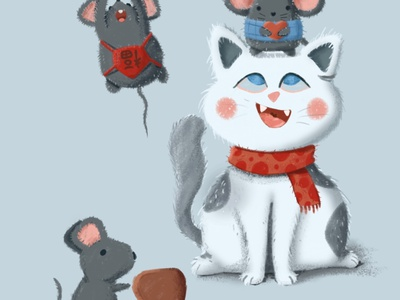 Cat and Mouse illustration