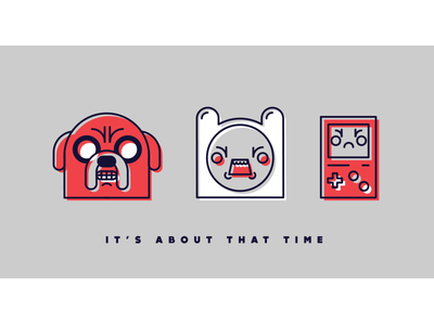 It's Time! adventure time line art offset minimalism screen print indiana indy 3 color line geometric geometry