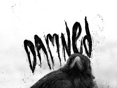 Damned odd weird metal texture grit dark occult hand drawn brush typography grunge