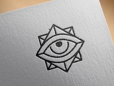 Self Branding | Logo Icon occult minimalism mono weight eye grunge grit icon letterpress
