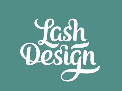 Lash Design Lettering lettering hand lettering logo type lash design