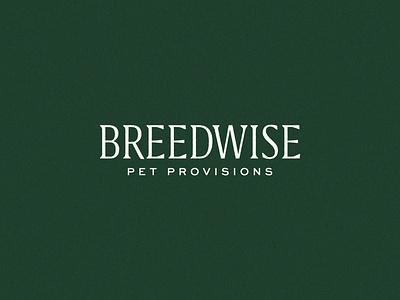 Breedwise best friends dogs custom logotype wordmark typography pet subscription modern logo illustration pet wellness direct to consumer consumer d2c brand studio branding brand identity identity design brand